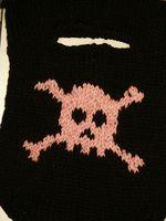 pink skull, pre-felting